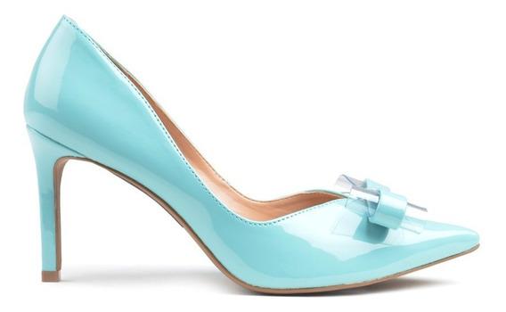 Zapatos De Mujer De Cuero Saint Jea Celeste - Ferraro