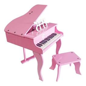 Piano Infantil 30 Teclas Rosa