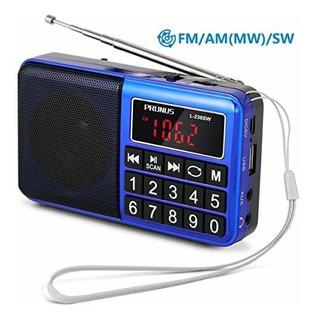 Radio Portatil Prunus Sw / Fm / Am (mw) / Mp3 / Usb / Sd / T
