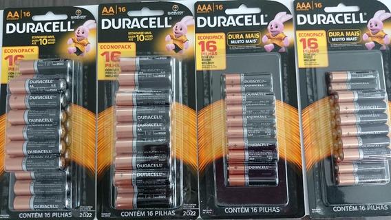 Duracell Pilha Alcalina Kit 32 Pilhas Aa + 32 Pilhas Aaa