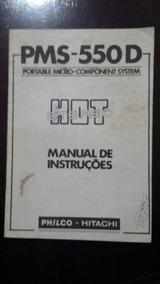 Manual Philco Pms-550d Original Rarissimo