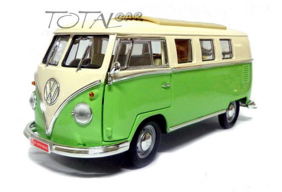 Volkswagen Kombi Microbus 1962 1:18 Verde Signature Yatming
