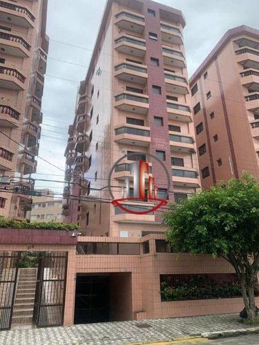 Imagem 1 de 17 de Apartamento Com 1 Dormitório À Venda, 47 M² Por R$ 185.000,00 - Caiçara - Praia Grande/sp - Ap2717