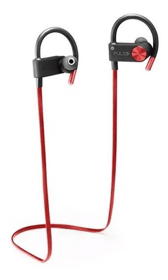 Earhook In-ear Sport Metallic Áudio Bluetooth Vermelho Puls