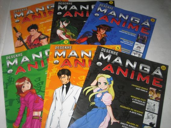 Desenhe Mangá E Anime - Nºs 1 A 5 E 10 - Lote Com 6 Revistas