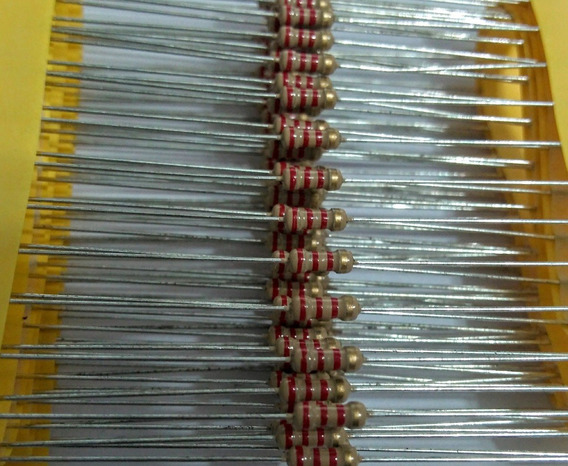 100pçs Resistor Cr25 2k2 5% 1/4w