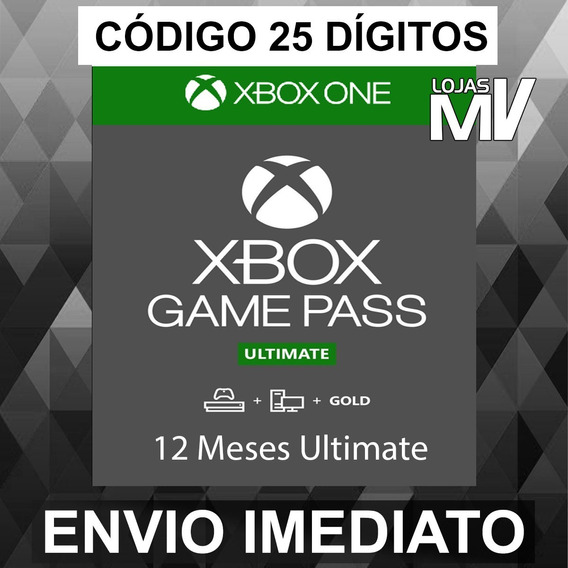 Xbox Game Pass Ultimate 12 Meses Código De 25 Digitos