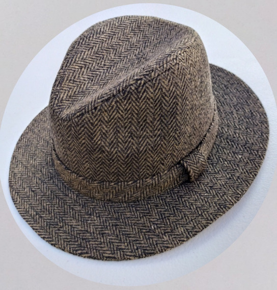 Sombrero Hombre Tipo Explorer, Retro, 100% Lana.
