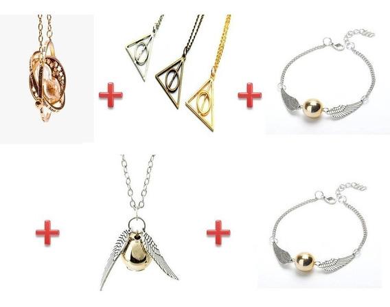 Collar Giratiempo+collar Snitch +reliquia + 2 Pulsera Snitch