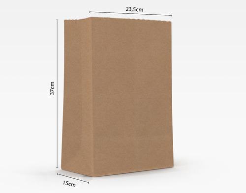 250 Sacos Delivery 80gr Liso - 23,5cm X 15cm X 37cm