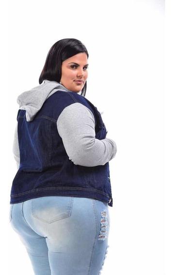 Jaqueta Jeans Feminina Plus Size G1 G2 G3 Roupas Femininas