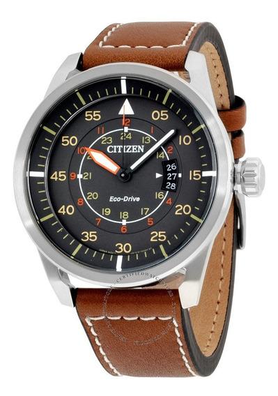 Citizen Aw1361-10h Eco-drive Men Avion Cinza Dial