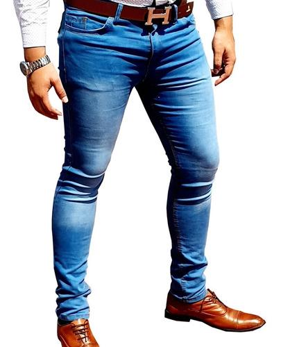 Lote De 3 Pantalones Para Hombre Corte Skinny Entubados Mercado Libre