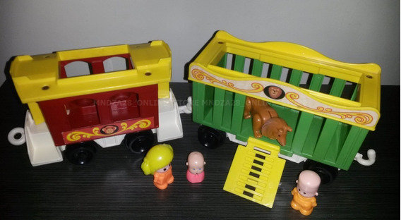 Remolques Tren Fisher Price Play Family Circus + Pinypon