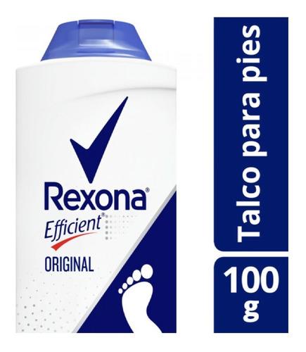 Rexona Talco Polvo Original Para Pies Efficient 100 Gr