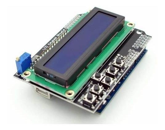 Display Lcd 16x2 Keypad Shield Com Teclado Arduino