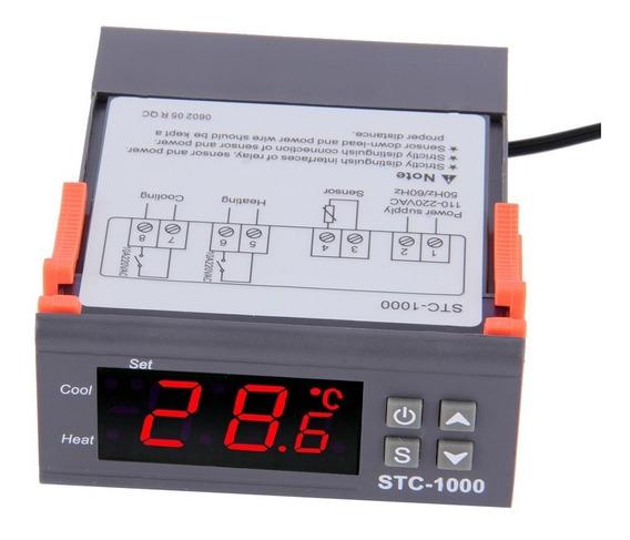 Termometro Termostato Digital Duplo Rele Aquario Chocadeira