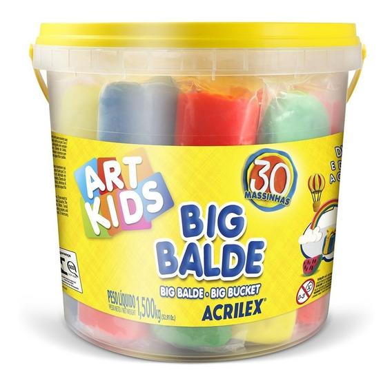 Massinhas Modelar Soft 30 Unid Big Balde Acrilex Incrivel !!