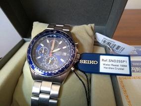 Relógio Seiko Blue Pilot Flightmaster Cronograph