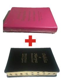 Kit 2 Biblia Sagrada Letra Gigante Com Harpa Índice Lateral