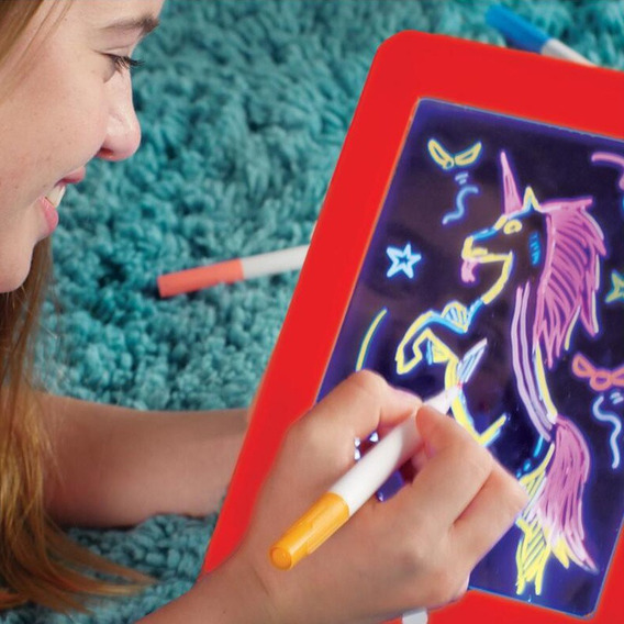 3d Magic Drawing Pad Led Escrevendo Tablet Board Para Plást