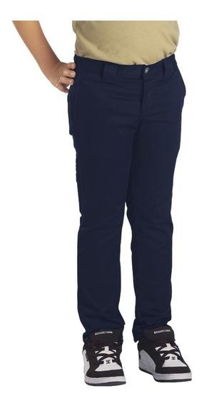Pantalon Niño Dickies Qp801 Skinny Fit Azul Marino