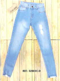 297e1a94d Pantalon Jeans Para Dama Up Jeans Altos Rotos Clasicos