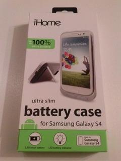 Caja De Bateria Ampliada Funda Para Samsung Galaxy S4 Negro