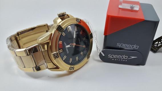 Relógio Masculino Dourado Speedo -a Prova Dágua-15004gpevds1