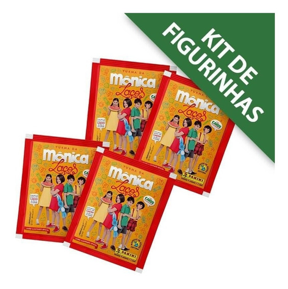 Turma Da Mônica Laços:kit 12 Envelopes (48 Cromos+12 Cards)