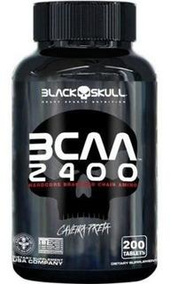Bcaa 2400 Caveira Preta (200 Tabs) Skull Black -