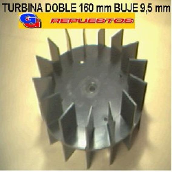 Turbina Purificador 160 Mm Doble Buje De 9,5 Mm Alto 8 Cm