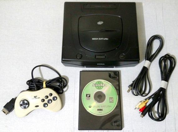 Sega Saturn Travado + Controle Original + Jogo Scorcher