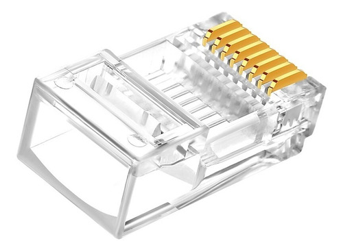 Imagen 1 de 1 de Conectores Plug Rj45, Ele-gate Wi-08 Cat5 Caja Con 100