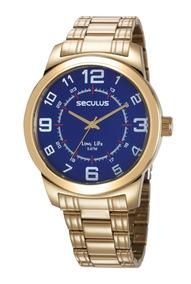 Relógio Masculino Seculus 23641gpsvda3 Promo Dia Dos Namorad