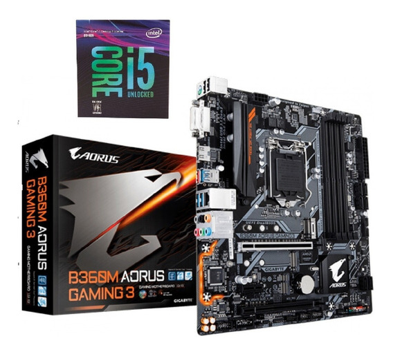 Kit 8°geração I5-8400 + B360m Aouros Gaming3