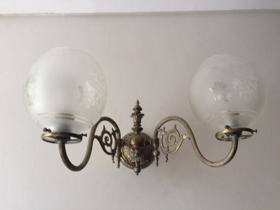 Iluminación Apliques Antiguos De Bronce