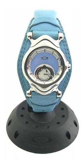 Relógio Oakley Jury Pulseira De Couro Azul Raridade!!!