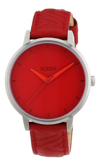 Reloj De Dama Nixon Kensington Pulsera De Piel Roja Brasalet