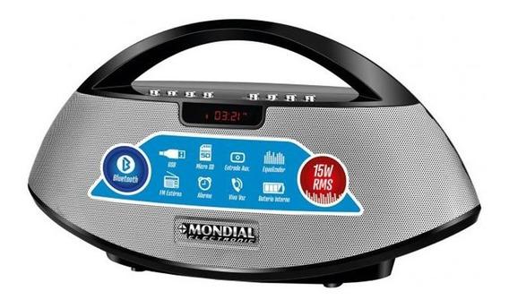 Rádio Portátil Mondial Bluetooth Rádio Fm Entrada Usb E M
