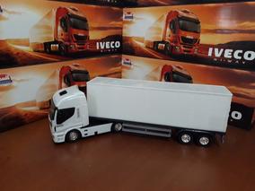 Caminhão Carreta Iveco Hi Way Baú - Usual Brinquedos -1 Pç