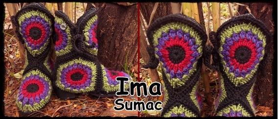 Botas Tejidas Crochet Suela Pvc. Forradas Pachtwor. T 35/40