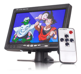 Tela Monitor Automotivo Lcd 7 Dvd Cftv Veicular 12v Controle