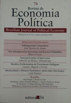 Revista De Economia Política Vol. 19 Nº4 José Roberto Mendo