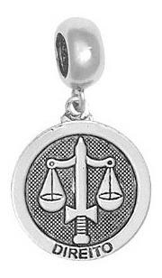 Imagem 1 de 1 de Berloque Prata Envelhecida Profissão Direito