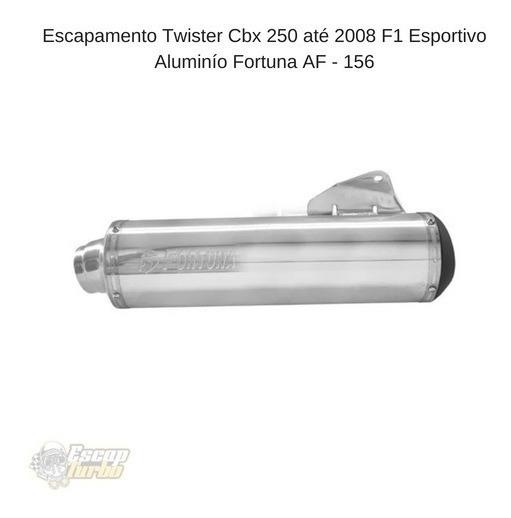 Escapamento Twister Cbx 250 08 F1 Esportivo Aluminío Fortuna