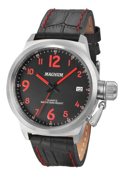 Relógio Masculino Magnum Pulseira De Couro Ref: Ma33442v