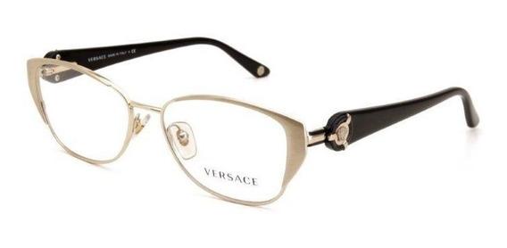 Óculos De Grau Unissex Metal Versace Dourado - Tamanho Único