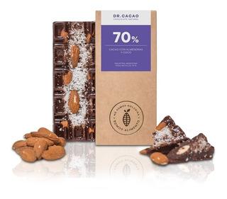 Tableta Chocolate Dr Cacao Almendras Y Coco X70grs Envio X10