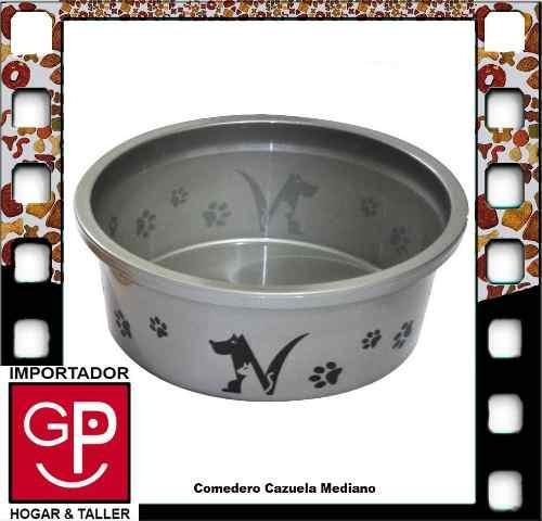 Comedero Cazuela Mediano Para Mascota 1900ml G P